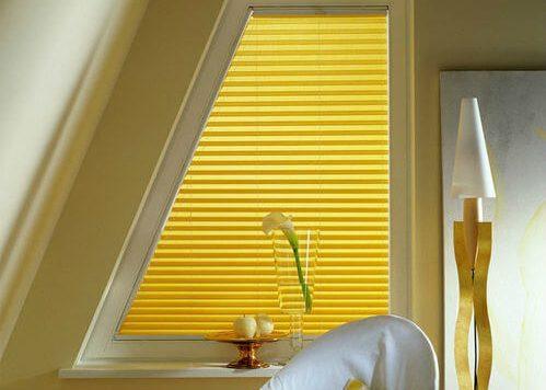 шторы плиссе на трапецевидное окно