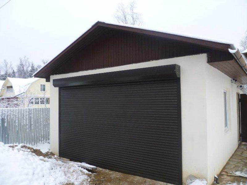 ролетные ворота на частный гараж