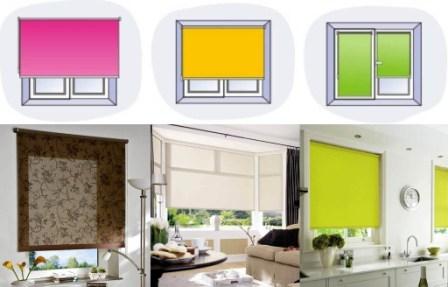 варианты установки тканевых ролет на окно