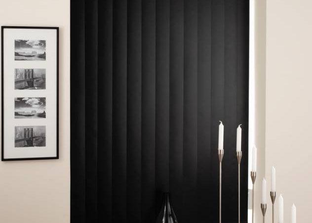 вертикальные жалюзи черные