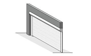 встроенный монтаж рулонных ворот