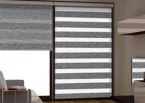 рулонные шторы день-ночь открытого типа