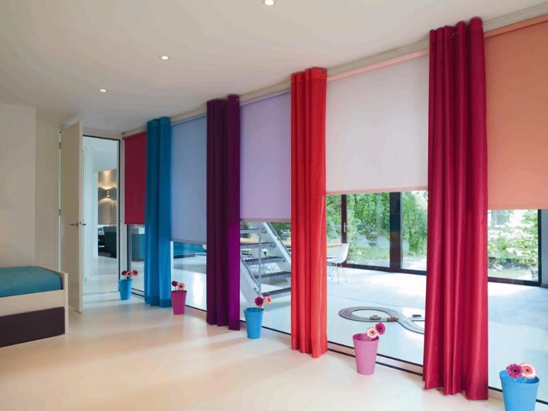 Рулонные шторы разноцветные