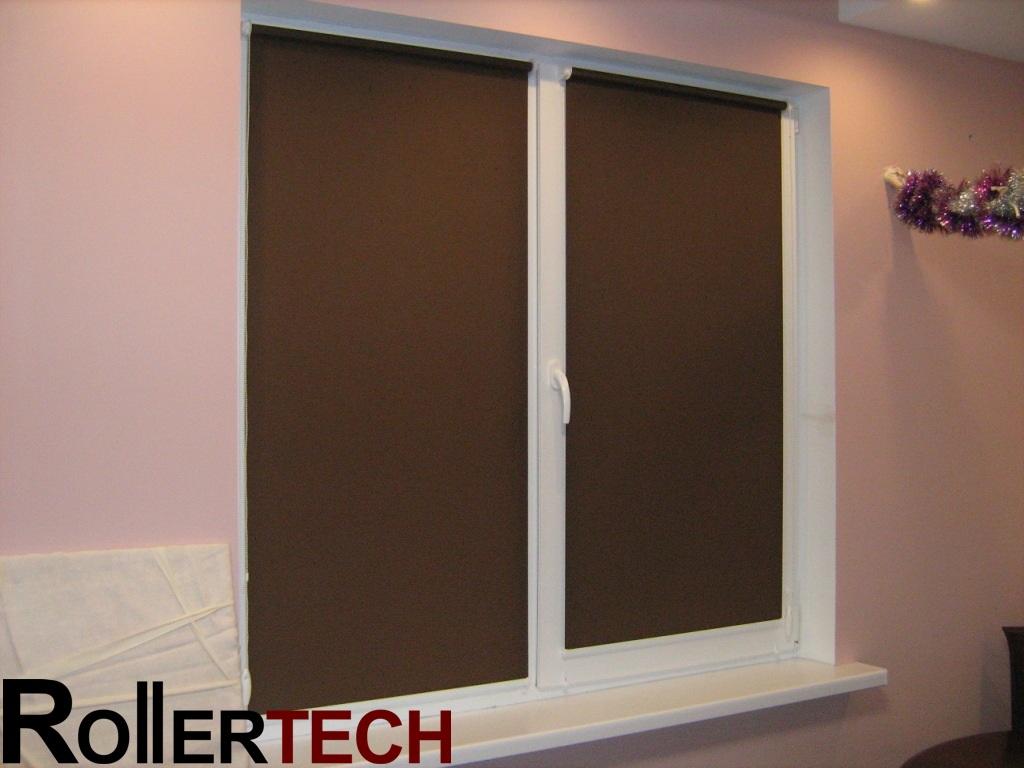 коричневые рулонные шторы