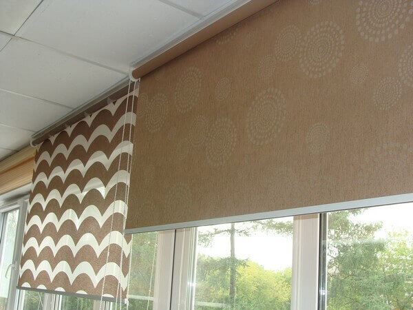 тканевые ролеты на потолок