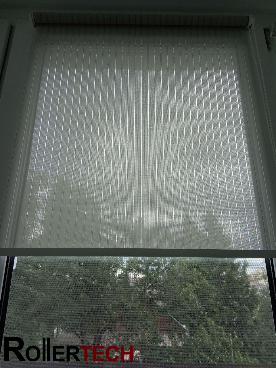 прозрачные тканевые роллеты