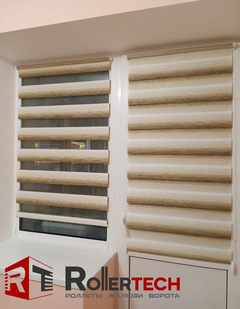тканевые ролеты балконные день-ночь фото