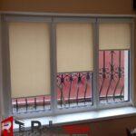 рулонные шторы в спальню фото